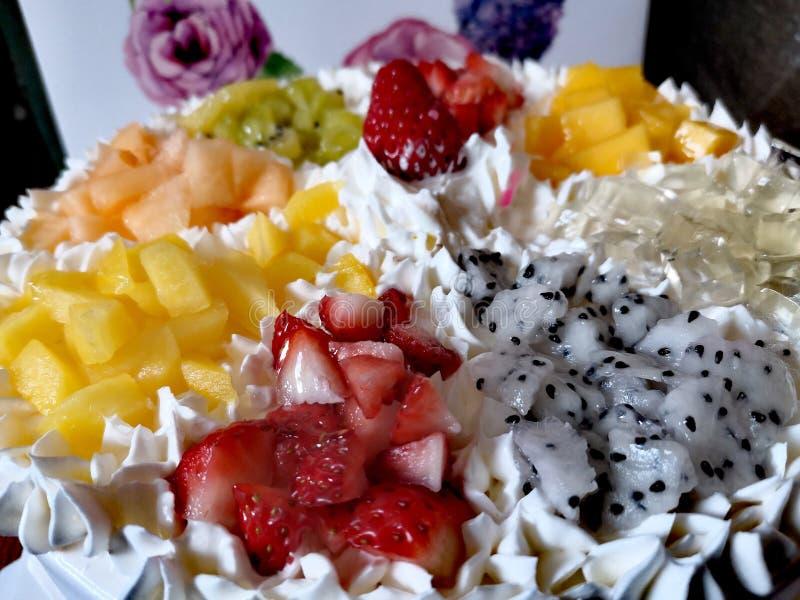 Животный торт плода сливк стоковые изображения rf