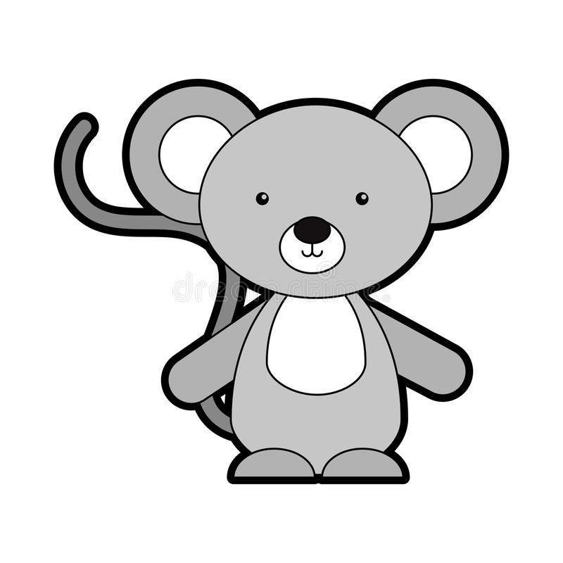 Животный шарж коалы иллюстрация вектора