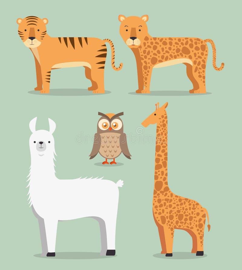 животный шарж одичалый иллюстрация штока