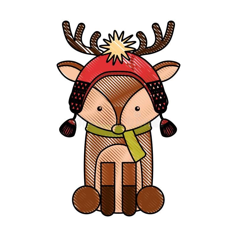 Животный шарж северного оленя иллюстрация штока
