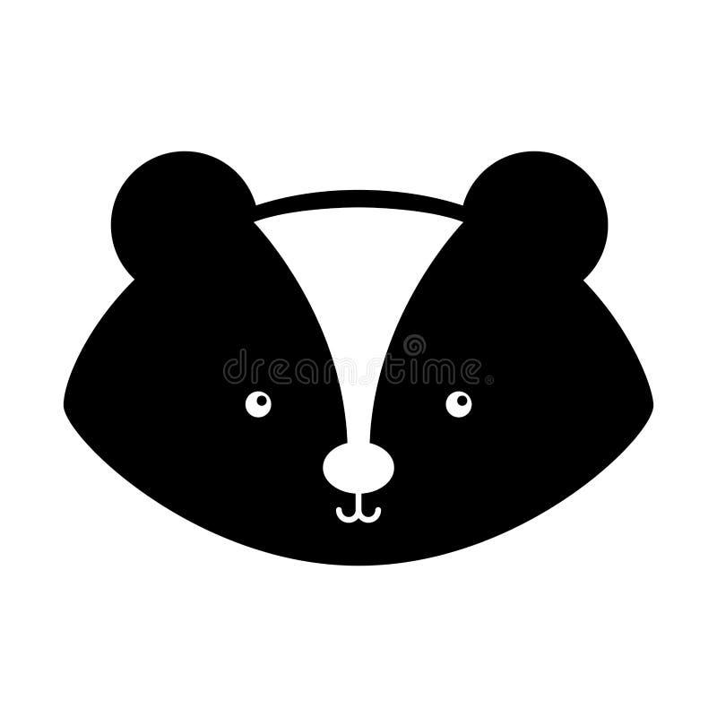 Животный шарж скунса бесплатная иллюстрация