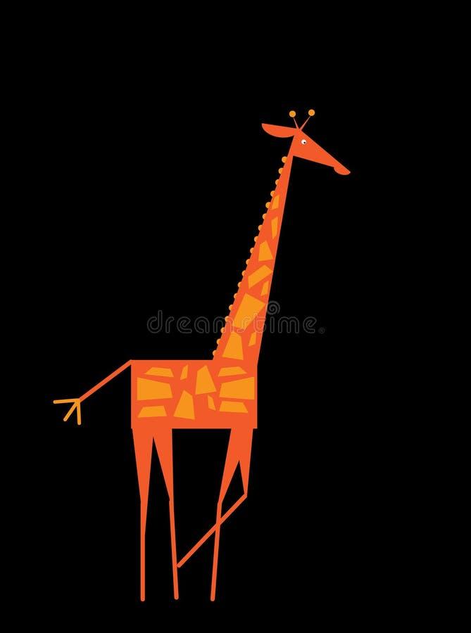 животный mammal giraffe шаржа одичалый Плоское животное, для плаката, летчик, крышка, брошюра Плоский дизайн Легко для того чтобы иллюстрация вектора