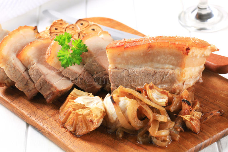 Живот свинины жаркого стоковое изображение rf