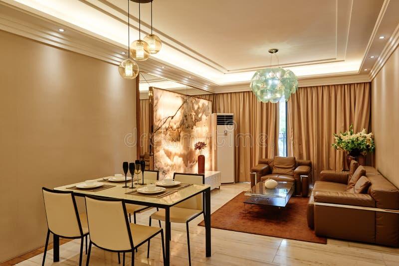 живущая комната и столовая стоковая фотография rf