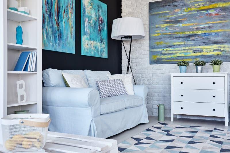 Живущая комната от угла стоковые фотографии rf