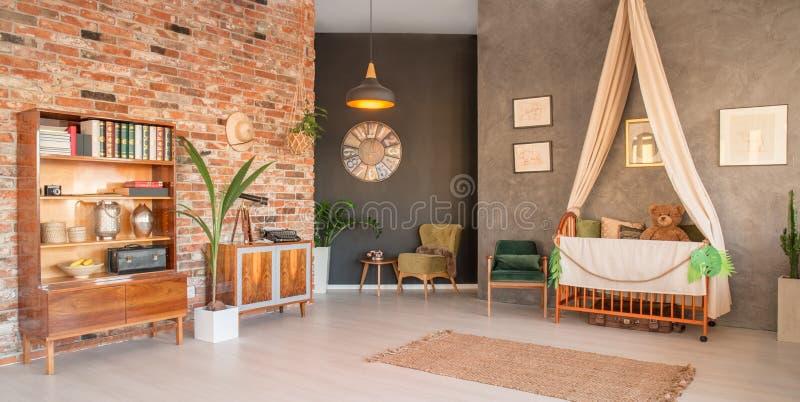 Живущая комната с шпаргалкой стоковые фотографии rf