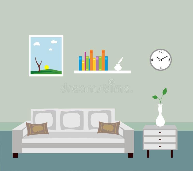 живущая комната иллюстрация штока