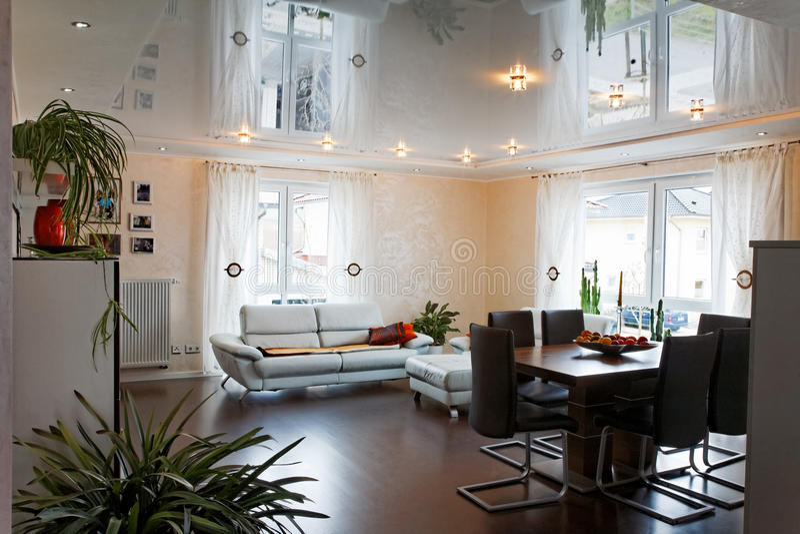 Живущая комната. стоковое изображение