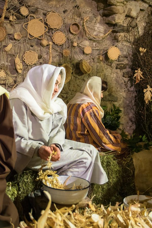 Живущее рождество в Canale di Tenno, Италии стоковое изображение