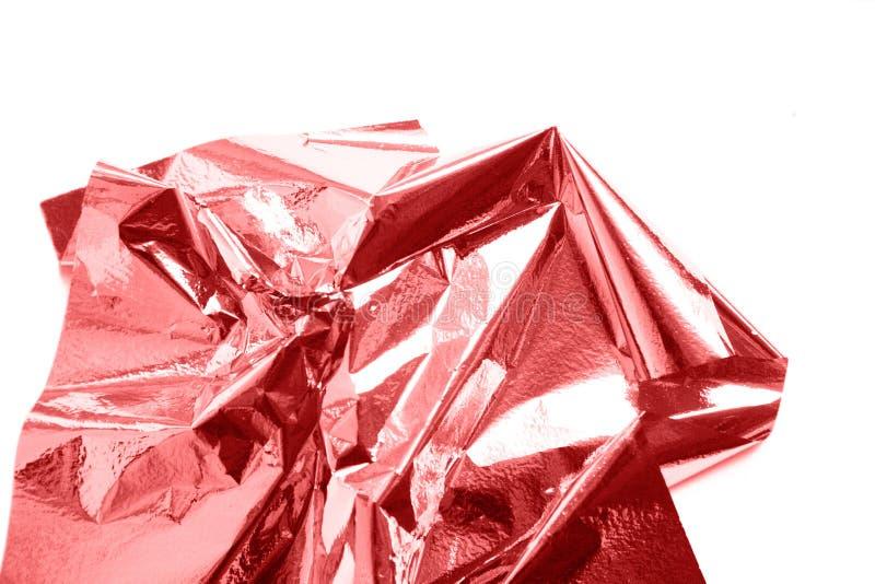 Живя коралл, лист сусального золота металла сияющий розовый стоковая фотография
