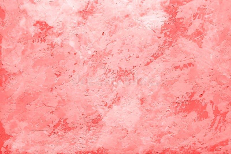 Живя цвет коралла текстуры конспекта года декоративной ol стоковая фотография rf