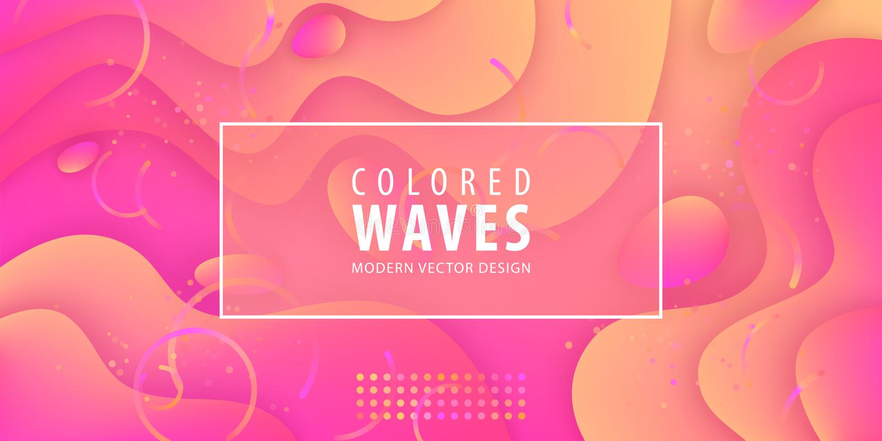 Жидкий градиент формирует состав Жидкостный дизайн предпосылки цвета Плакаты дизайна также вектор иллюстрации притяжки corel бесплатная иллюстрация