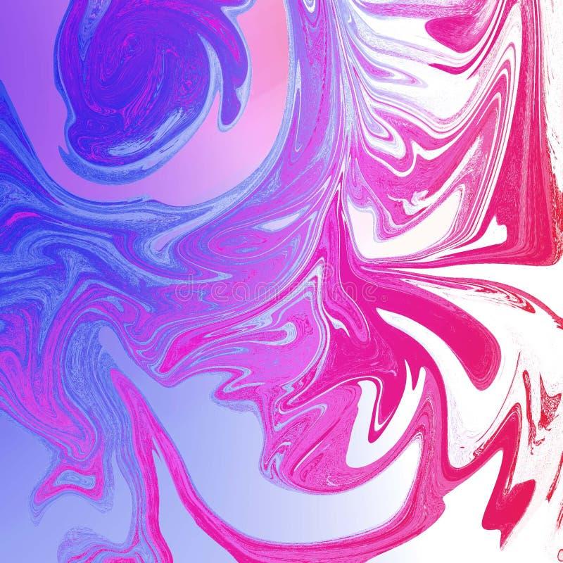 жидкостная абстрактная предпосылка с чертами картины маслом иллюстрация вектора