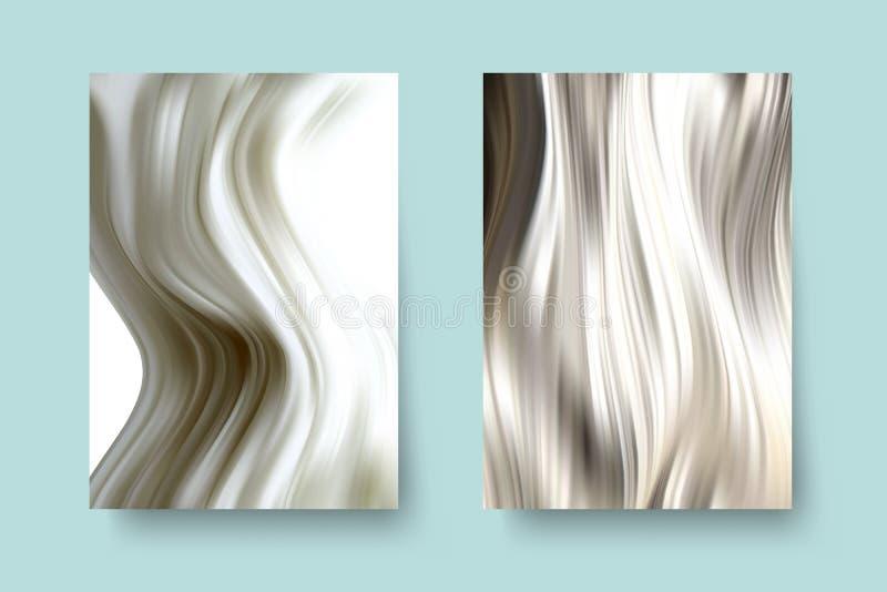 Жидкостная мраморная текстура Жидкое искусство Применимый для крышки дизайна, представления, приглашения, летчика, годового отчет бесплатная иллюстрация