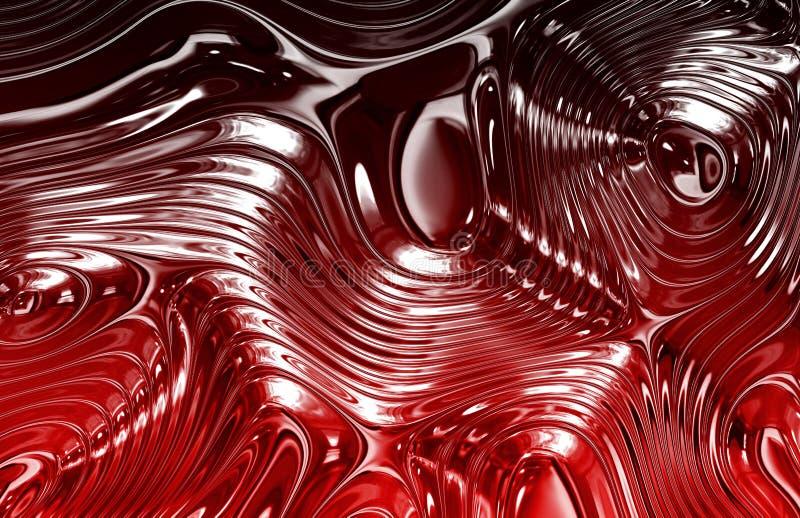 жидкостная текстура красного цвета металла иллюстрация вектора