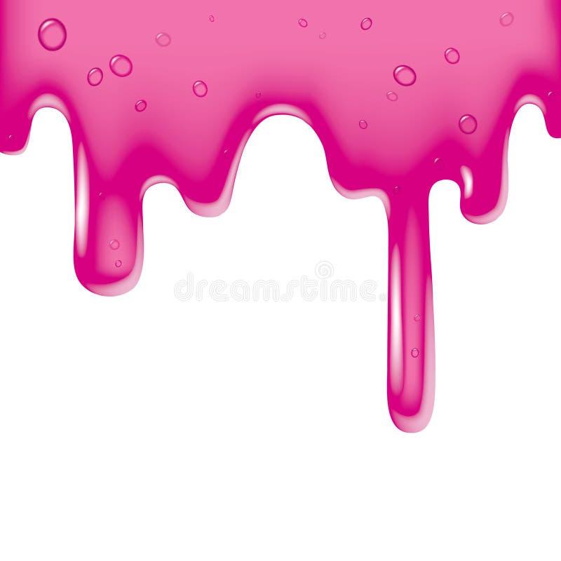 жидкостное розовое вязкостное иллюстрация вектора