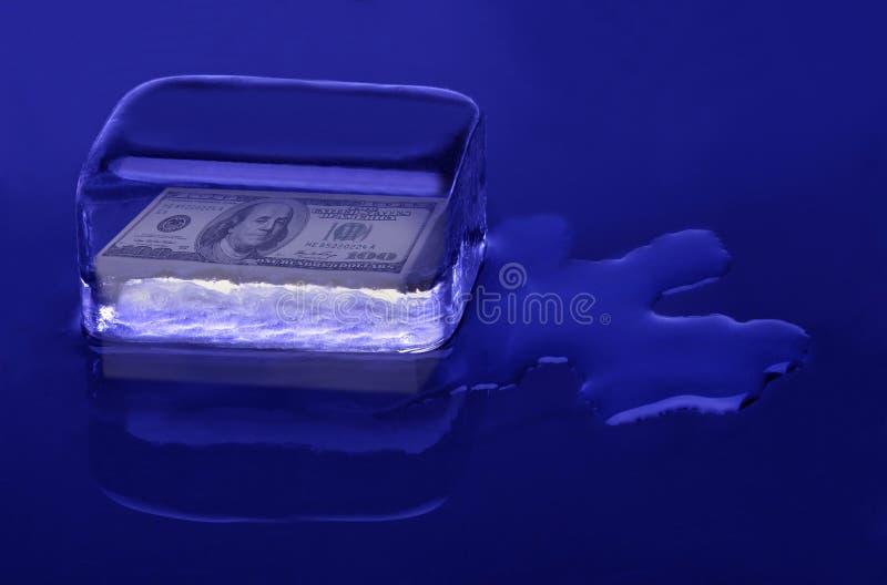 Жидкостные деньги стоковое изображение rf