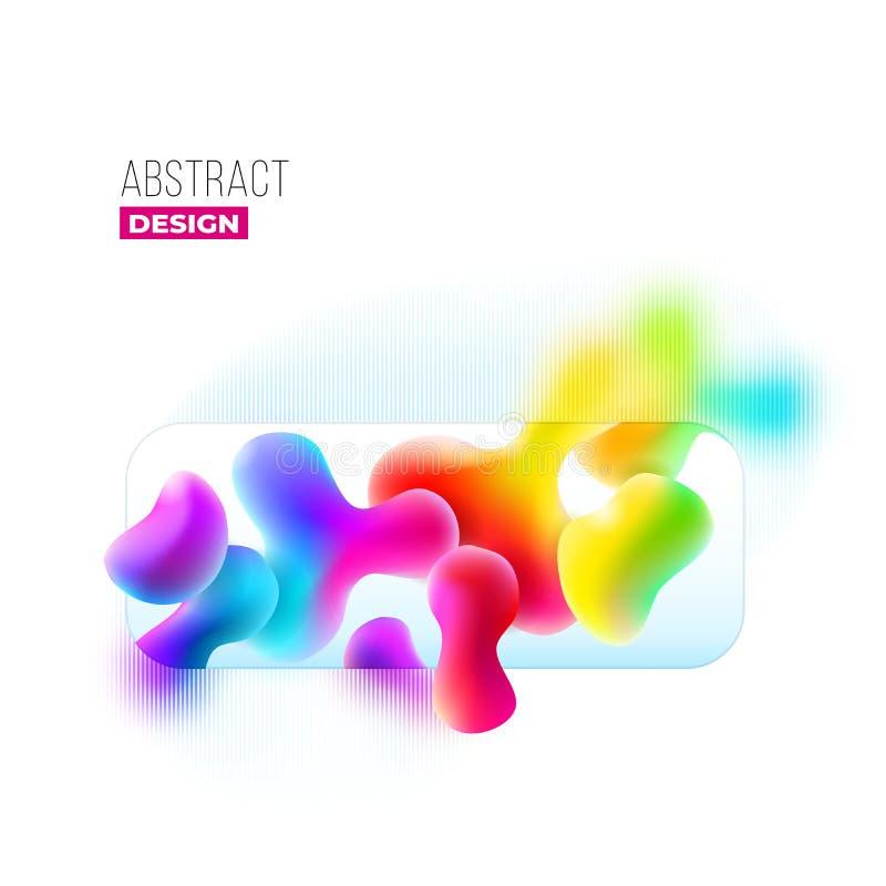 Жидкостный дизайн предпосылки цвета Жидкий градиент формирует состав Футуристические плакаты дизайна Вектор Eps10 иллюстрация вектора