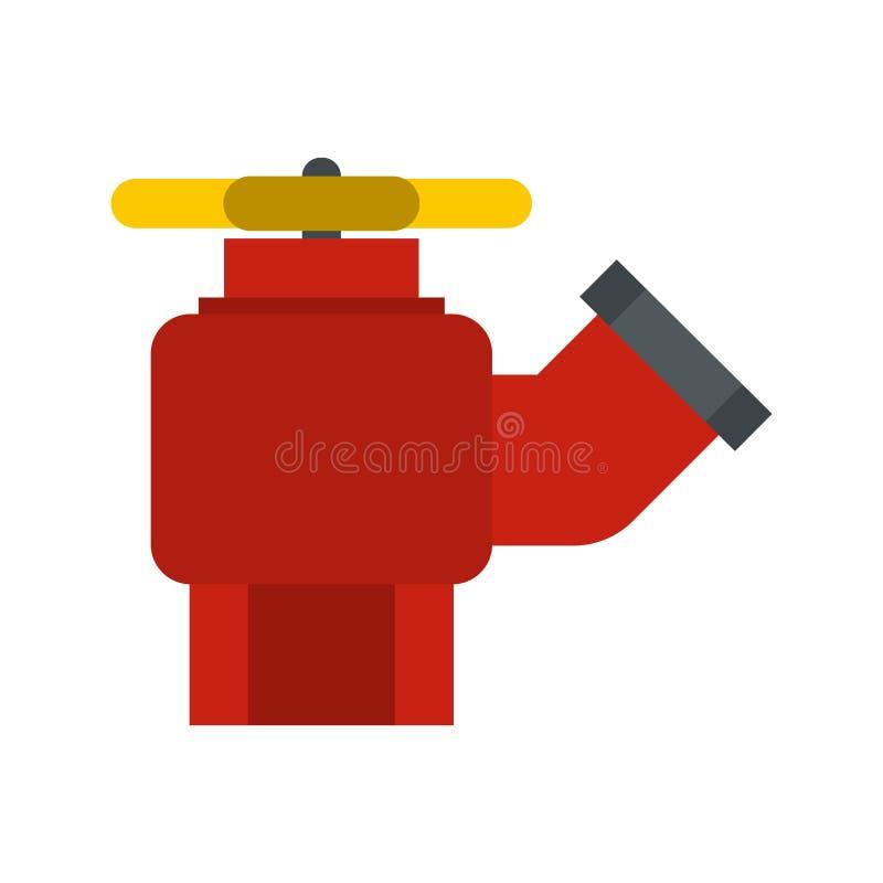 Жидкостный огнетушитель с значком клапана бесплатная иллюстрация