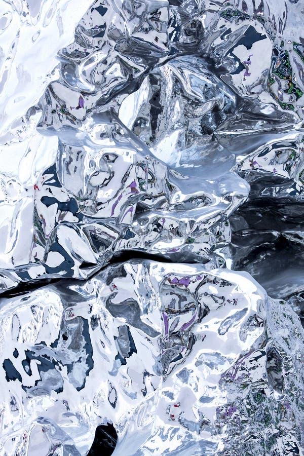 жидкостный серебр стоковая фотография rf