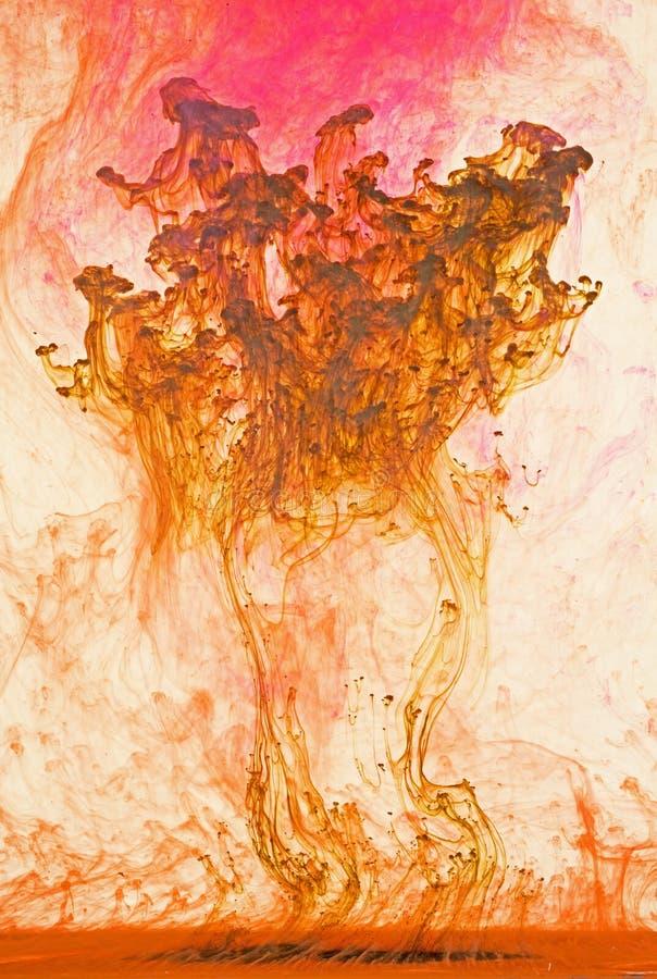 жидкость предпосылки искусства цветастая стоковое фото rf