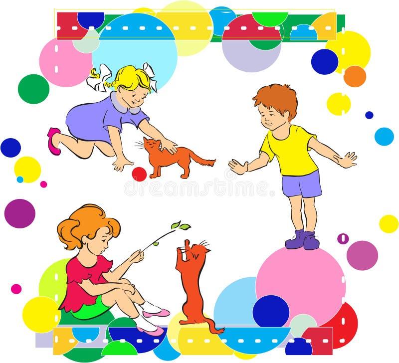 жизнерадостная игра праздника цирка детей бесплатная иллюстрация