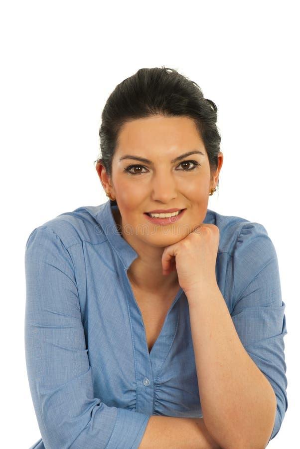 жизнерадостная корпоративная женщина портрета стоковые фотографии rf