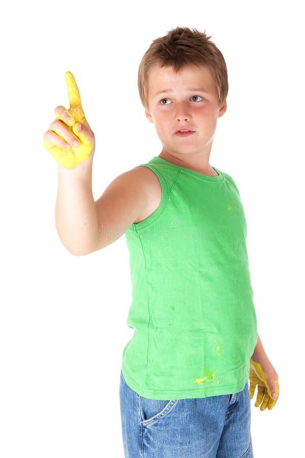 жизнерадостная краска ребенка стоковые изображения