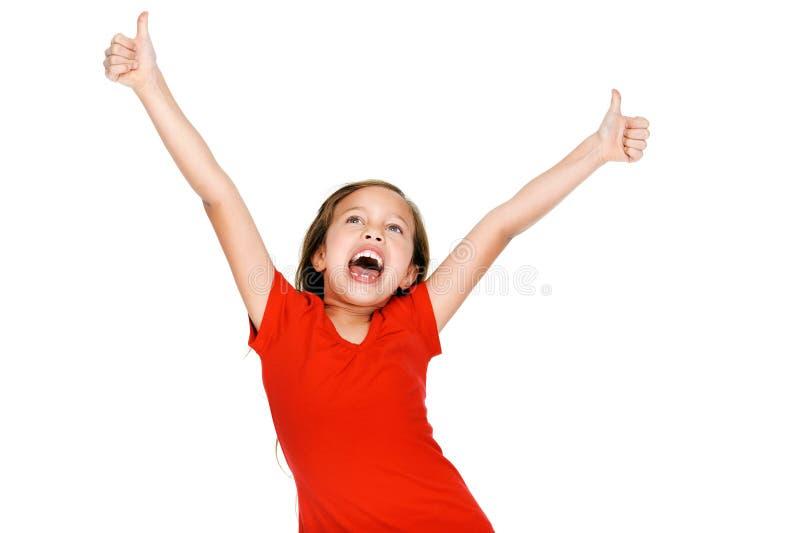 Жизнерадостная маленькая девочка стоковая фотография rf