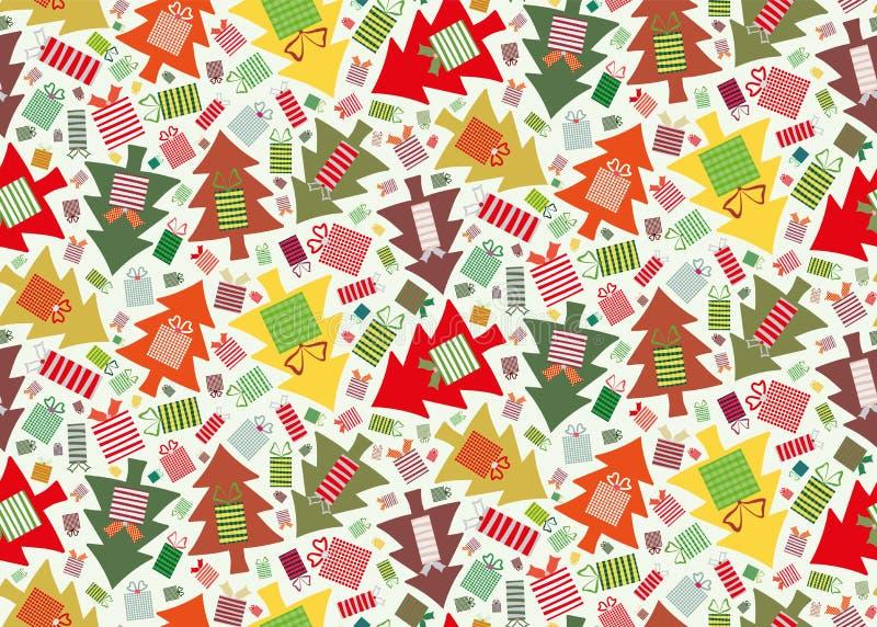 Жизнерадостная смесь рождественской елки иллюстрация штока