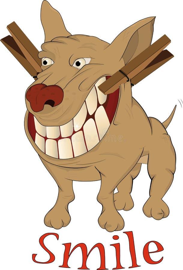 жизнерадостная усмешка dogie очень иллюстрация штока