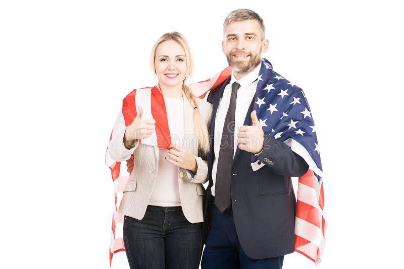 Жизнерадостные американские пары стоковое изображение