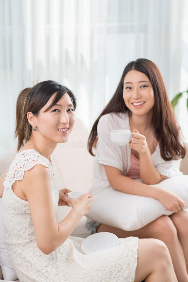Жизнерадостные женские друзья стоковая фотография