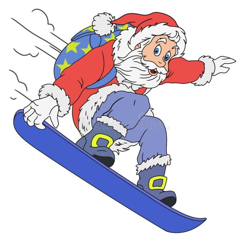 Жизнерадостный шарж Санта Клауса стоковое фото rf
