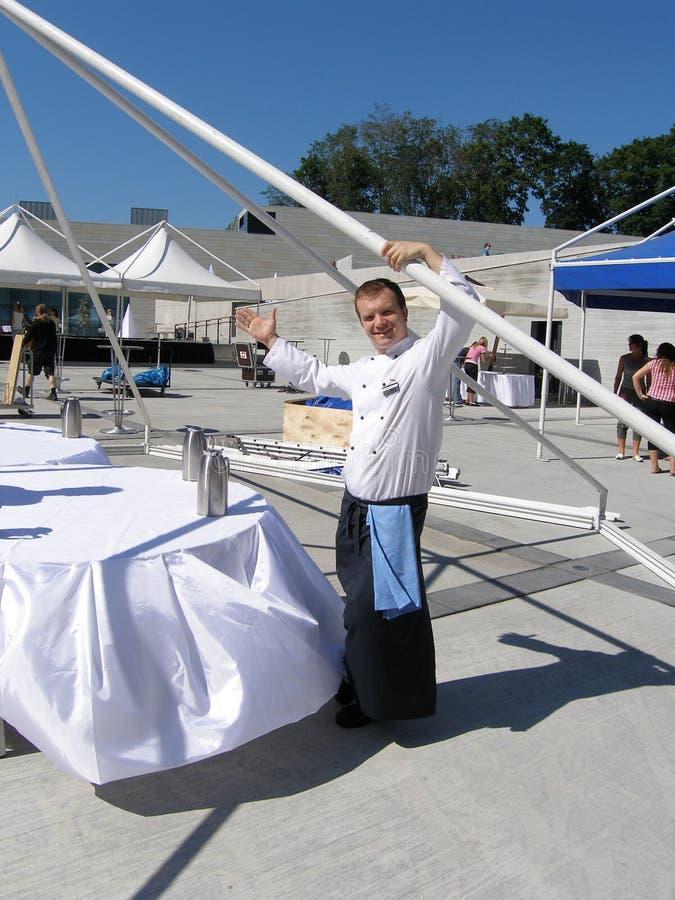 жизнерадостный шеф-повар стоковое фото rf
