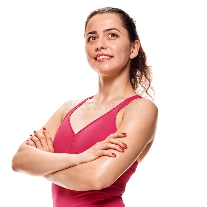 Жизнерадостная атлетическая девушка стоковые изображения rf