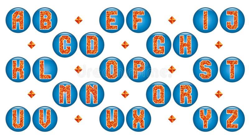 Жизнерадостный алфавит триангулярных мозаик бесплатная иллюстрация