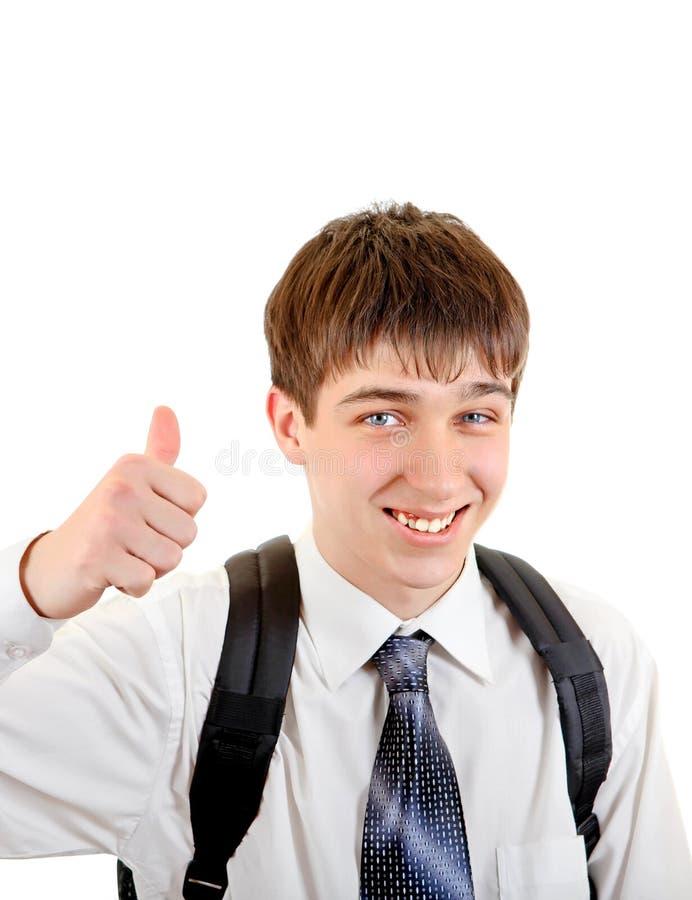 Жизнерадостный портрет подростка стоковое фото rf