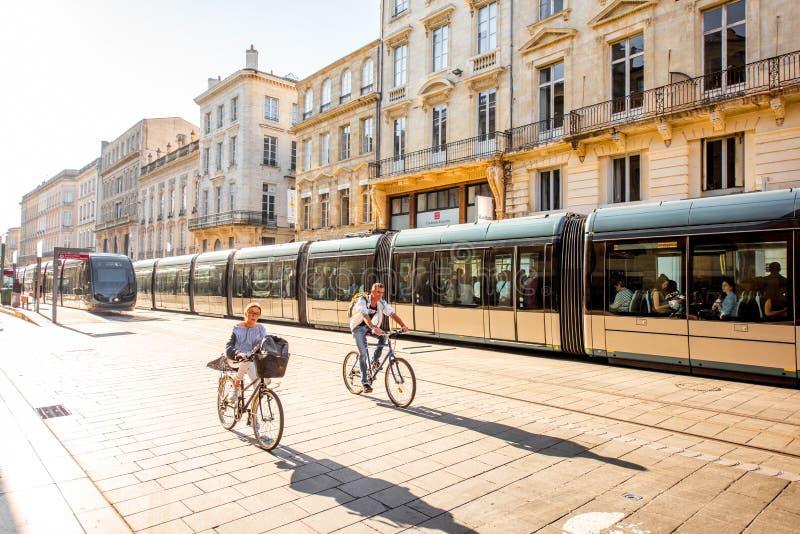 Жизнь в городе Бордо стоковое фото