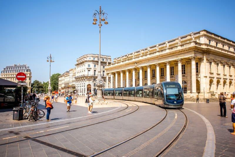 Жизнь в городе Бордо стоковые фотографии rf
