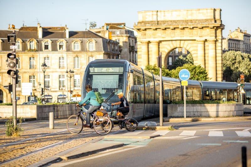 Жизнь в городе Бордо стоковая фотография