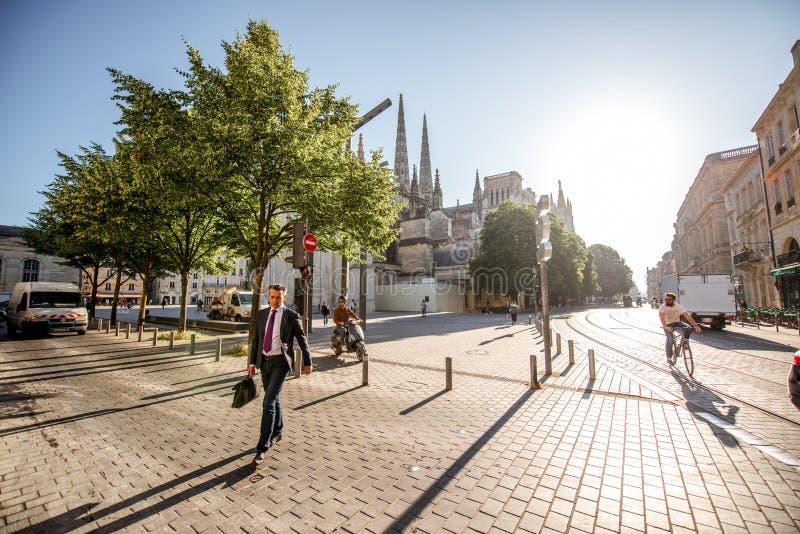 Жизнь в городе Бордо стоковое изображение rf