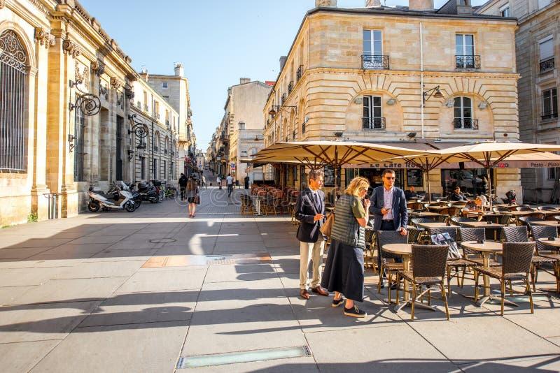Жизнь в городе Бордо стоковая фотография rf