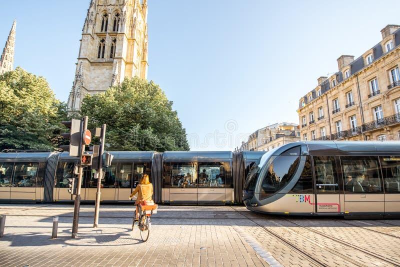 Жизнь в городе Бордо стоковое фото rf