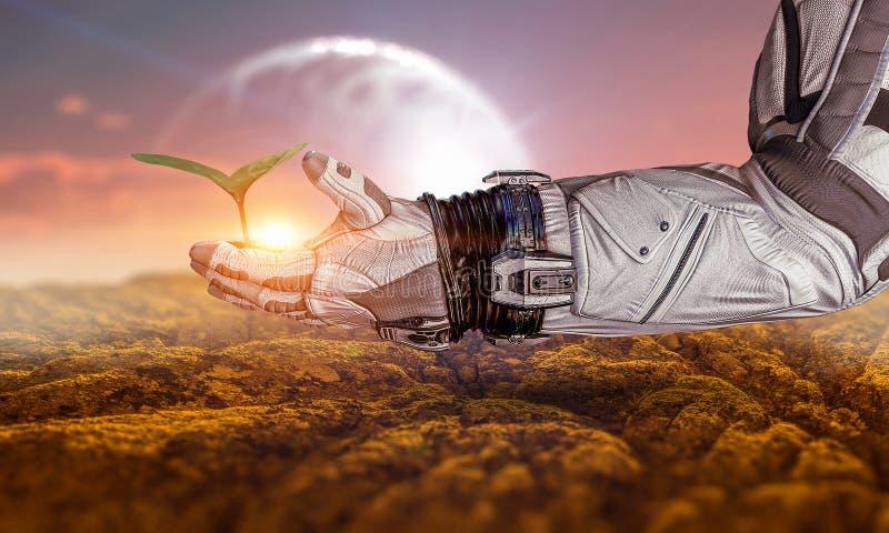 Жизнь в космосе Мультимедиа стоковое изображение rf