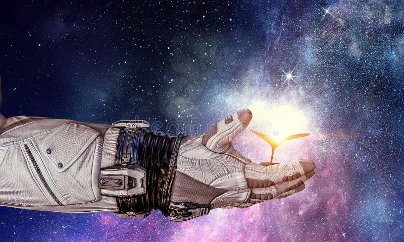 Жизнь в космосе Мультимедиа стоковые фото