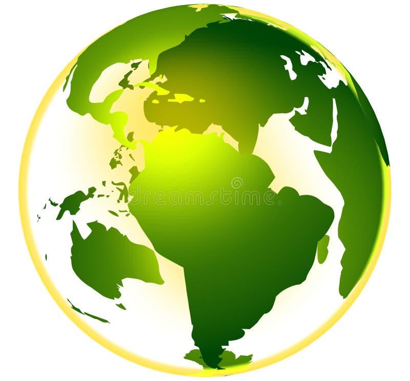 жизнь глобуса зеленая иллюстрация вектора