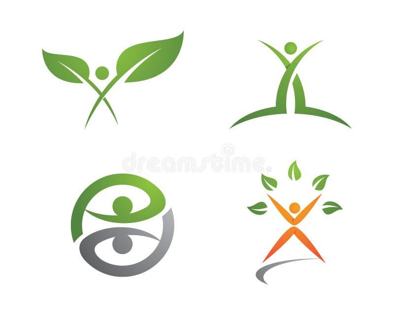 Жизнь здоровья и логотип потехи иллюстрация штока