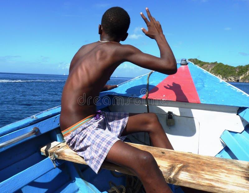 Жизнь карибского острова стоковое фото rf