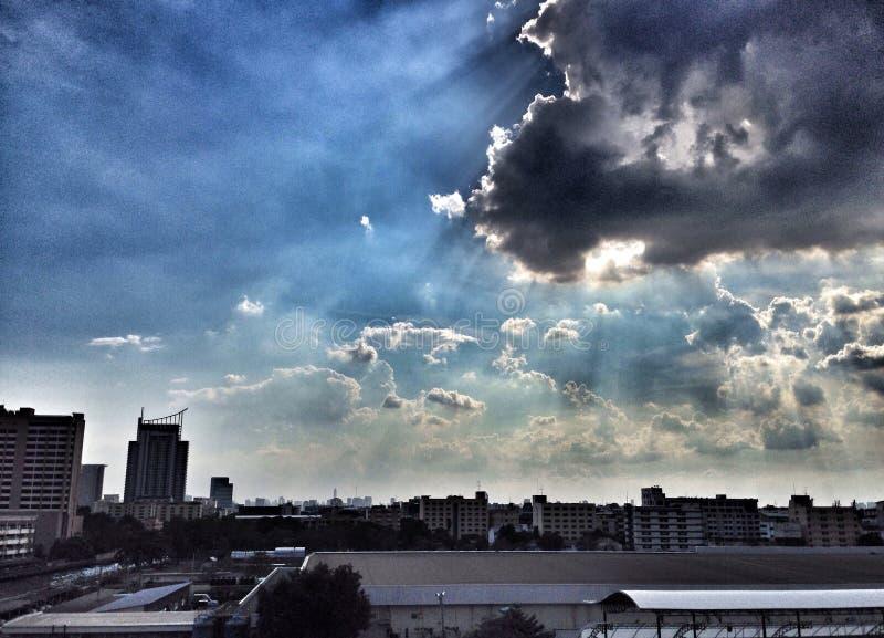 Жизнь на небе стоковое изображение rf